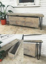 Wood Storage Bench Diy by How To Build A Quick Outdoor Hairpin Leg Bench With Storage