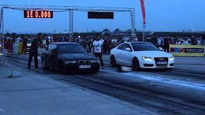 bmw vs audi race bmw e36 2 8 n a vs audi a5 3 0 tdi 380bhp drag racing arad