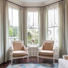 Floor To Ceiling Curtain Rods Decor Bay Window Curtain Is Cool Curved Curtain Rod For Bay Window Is