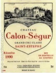 château calon ségur grand cru 1990 chateau calon segur estephe prices