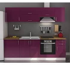 cuisine mauve cuisine violet laqué en photo