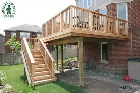 Backyard Deck Ideas Backyard Deck Designs Plans Elevated Deck Plan Pictures Design And