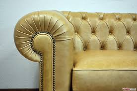 Chesterfield Sofa Antique Chesterfield Sofa With Vintage Brass Plated Studs
