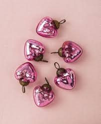 antique pink cora mini mercury glass ornaments set of 6