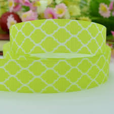 ribbon cheap quatrefoil easter yellow party decoration 22mm clothing
