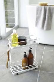 Bathroom Storage Cart Yamazaki Home Tower Bath Rack White Home Kitchen