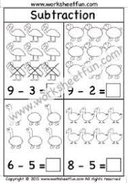 beginner subtraction u2013 2 kindergarten subtraction worksheets