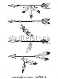 arrows feathers boho stock vector 511774816