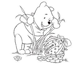 winnie pooh easter coloring pages coloring