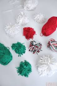 Homemade Pom Pom Decorations Pretty Christmas Packages U0026 Diy Pom Pom Decorations Honey We U0027re Home