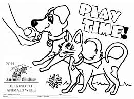coloring page for the parma animal shelter u0027s 2014 be kind to