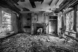 bare usa photos of women in abandoned buildings across