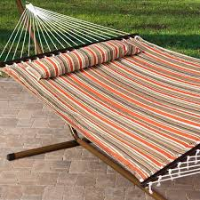 island bay 13 ft sage green diamond stitch quilted double hammock