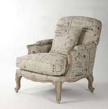 paris club chair french script fabric zentique