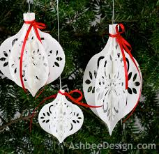 ashbee design diy paper ornament silhouette