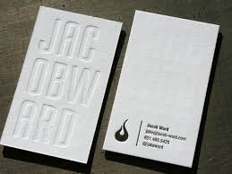 25 clean letterpress business cards business card