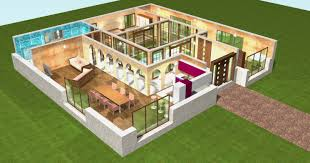 plan de maison en v plain pied 4 chambres plan d une maison en 3d dune v de plain pied avec chambres garage