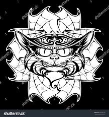 halloween illustration black cat head on stock vector 492366724