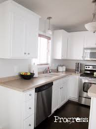 Alabaster White Kitchen Cabinets by Kriskraft Painting The Cabinets