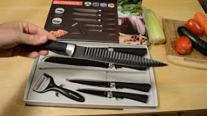 everrich 5 plus 1 kitchen knife set review youtube