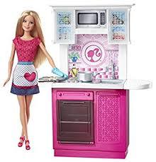 amazon barbie doll kitchen furniture toys u0026 games