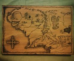 World Map On Wood Planks by Wood Burning Map Of Middle Earth 6 Steps With Pictures