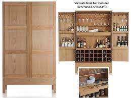 Teak Bar Cabinet Victuals Teak Bar Cabinet Costa Rican Furniture