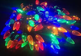 Multi Function Christmas Lights 100 Multicolour Pine Cone Acorn Christmas Lights 8 Multi Function