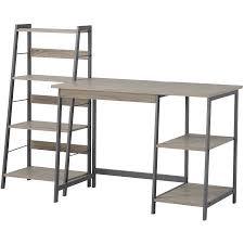homestar 2 piece laptop desk and 4 shelf bookcase set reclaimed