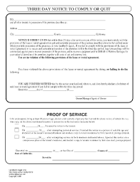 7 best images of notice to comply or vacate 30 day notice to