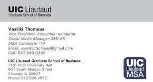 Networking Business Card Examples Uic Business