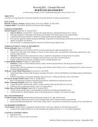 Graduate Nurse Resume Example 100 Resume Sample For Nursing Student Resumee Format Resume