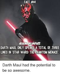 Darth Maul Meme - fact 44 darth maul only speaks a total of three lines in star wars