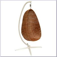 furniture cool hanging papasan chair with white cushion and glass