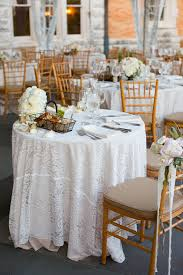 lace tablecloths on reception tables elizabeth designs the