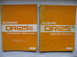 suzuki dr125z dr125sz genuine workshop service manuals and set up
