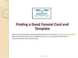 Funeral Card Template Finding A Good Funeral Card And Template 1 638 Jpg Cb U003d1397709836