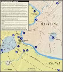 Map Of Loudoun County Ball U0027s Bluff Battlefield Civil War Trust