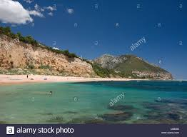 tourist enjoy the transparent and clear waters of the sos dorroles