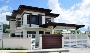 modern architecture two storey home house plan pinterest