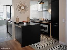cuisine carreau de ciment cuisine en noir tapis de carreaux de ciment et parquet black