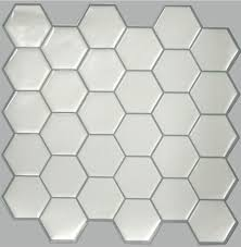 self stick wall tile white hex 10 5