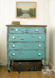 How To Make Furniture Look Rustic by Distress Paint With Petroleum Jelly Prodigal Pieces