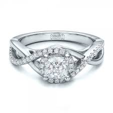 princess cut engagement rings with halo custom princess cut halo engagement ring 100790