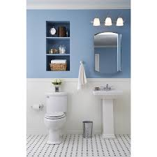 kohler bathroom mirror cabinet shop kohler archer 20 in x 31 in aluminum metal surface mount and