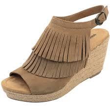 minnetonka womens boots size 11 s minnetonka taupe fringe wedge shoes