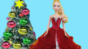 christmas tree decorating elsa and anna toddlers make wish lists