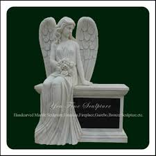 prices of headstones marble sitting angel headstone with wings buy marble