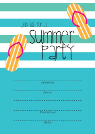 pool party menu template