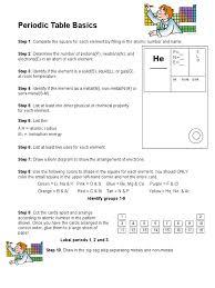 periodic table basics answer key periodic table basics periodic table chemical elements